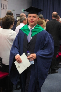 Degree in hand